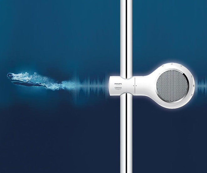 Design GROHE & zvuk PHILIPS
