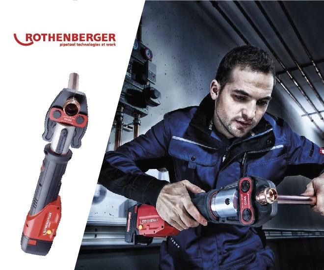 Rothenberger akce lisování Romax a závitořezy Supertronic