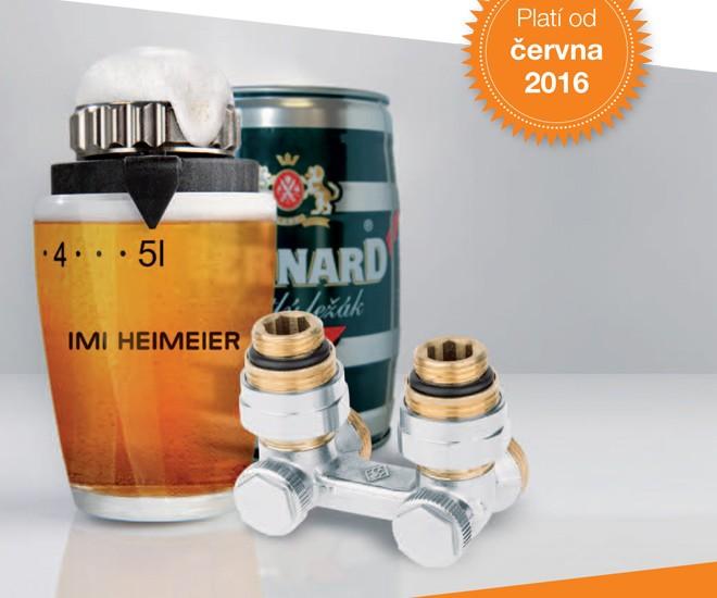 Soudek piva za nákup DX setů IMI Heimeier
