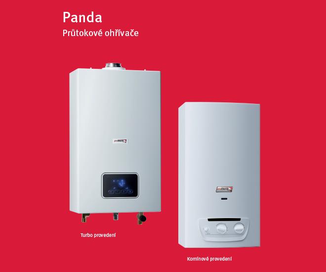 Plynové průtokové ohřívače Panda Protherm
