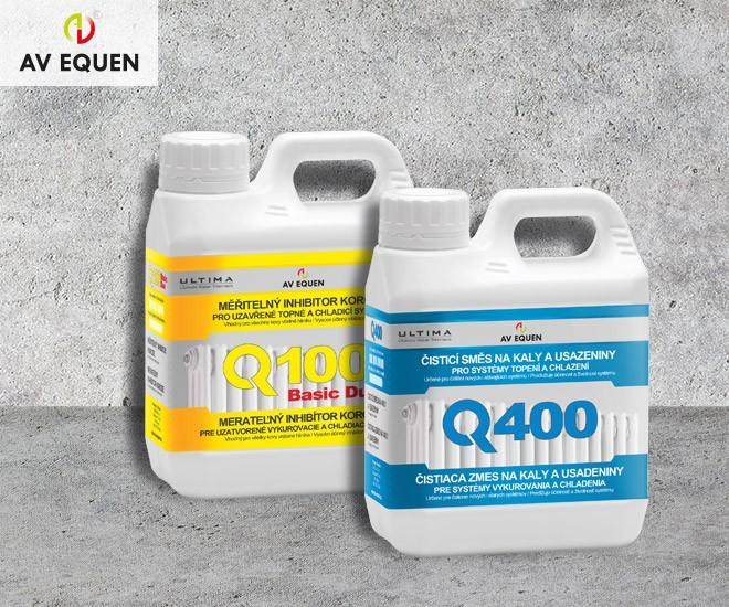 Inhibitor Q100 a čistič Q400