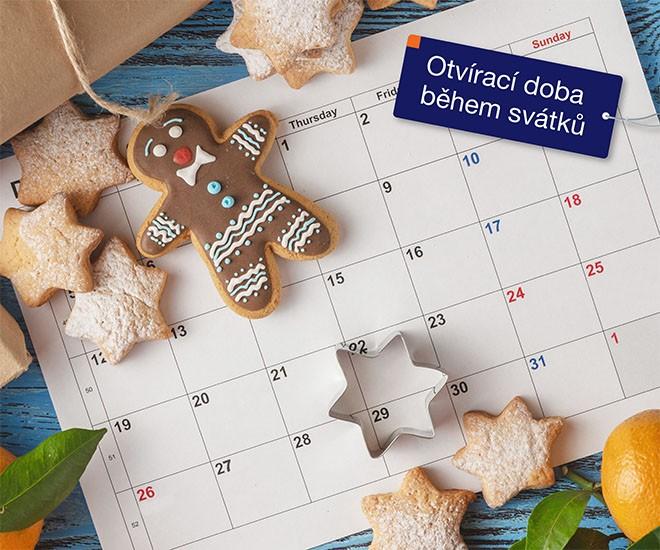 Otevírací doba během svátků